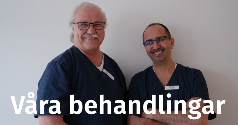doktorerna Määtänen och Alavi - text: Våra behandlingar