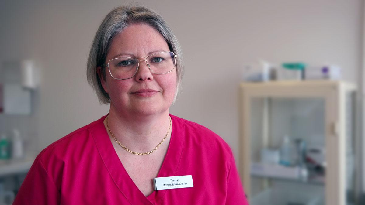 foto/porträtt undersköterska Therese Ölvebäck